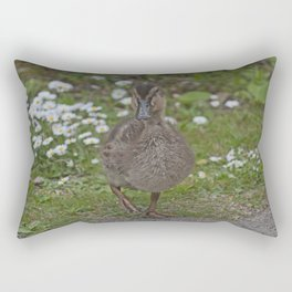 Duckling and Daisies Rectangular Pillow