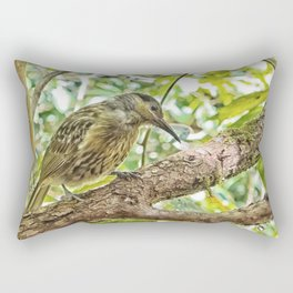 Bird on a branch Rectangular Pillow