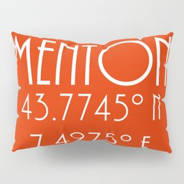 Menton Latitude Longitude Pillow Sham
