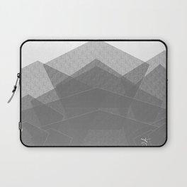White Winter Skiing Mountain Climbing Laptop Sleeve