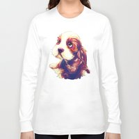 puppy Long Sleeve T-shirts featuring Puppy by Christi Lu