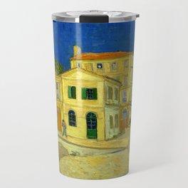 "Vincent Van Gogh ""The yellow house ('The street')"" Travel Mug"