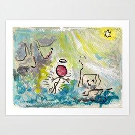 #cagsticks ''Nativity Scene 3'' Art Print