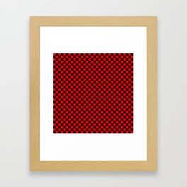 schwarz rot kariert Framed Art Print