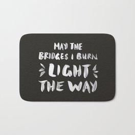 Burned Bridges – Black & White Bath Mat