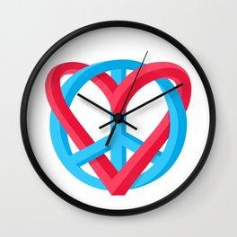 Peace + Love Wall Clock