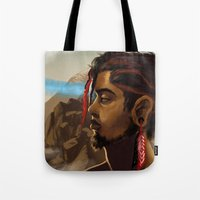 medicine Tote Bags featuring Medicine Man by gravityjump