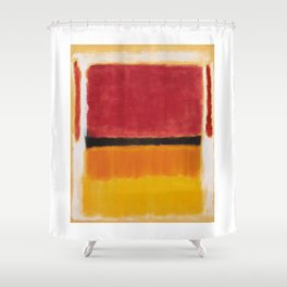 1949 Untitled (Violet, Black, Orange, Yellow on White and Red) by Mark Rothko Shower Curtain