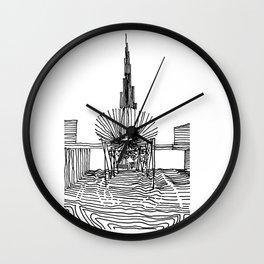 Dubai: Horro Vacui on an Urban Level Wall Clock