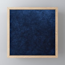 Royal Blue Velvet Texture Framed Mini Art Print