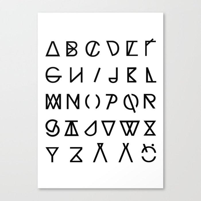 GRAPHIC ALPHABETS Canvas Print