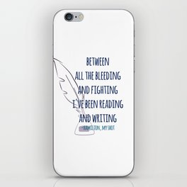 READING AND WRITING | HAMILTON iPhone Skin