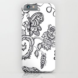 Owl and a Butterfly  iPhone Case