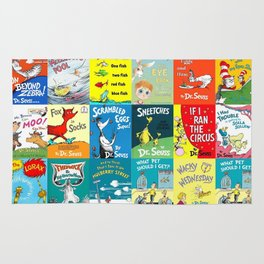 Dr. Seuss Book Covers Rug