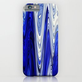 Zigzag Cobalt Blue iPhone Case