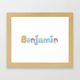 Benjamin: Spelled by Zoopha Alphabet Beasties Framed Art Print