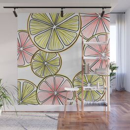 Oranges and Grapefruits Wall Mural