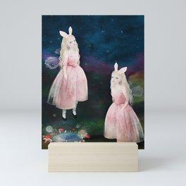 midnight folk Mini Art Print