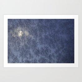 Moon through a Frosty Window Art Print
