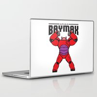 8bit Laptop & iPad Skins featuring BAYMAX (8BIT) by Akiwa