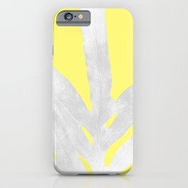 Green Fern on Lemon Yellow Inverted iPhone Case