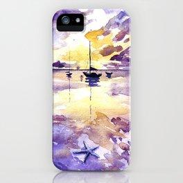 Starfish and Sailboat iPhone Case
