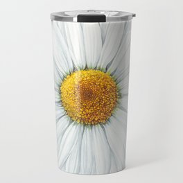 Watercolor Daisy Travel Mug