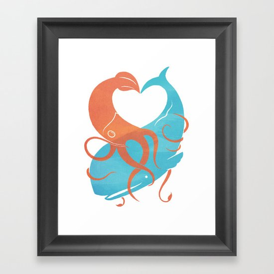 Hug It Out Framed Art Print