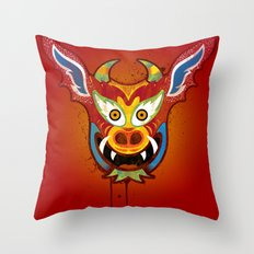 Yare Devil Mask Throw Pillow