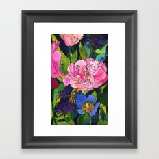 French Lavender & Roses Framed Art Print