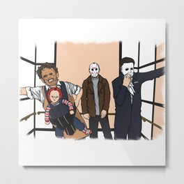 THE HORROR PACK Metal Print