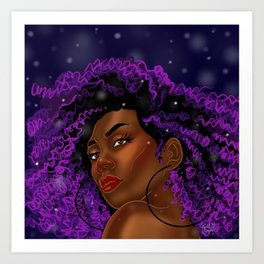 Violet Swirled Diva Art Print