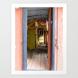 Old Caboose Door Art Print