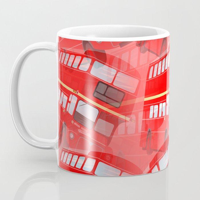 Red London Buses Coffee Mug
