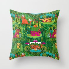 Lords of the Jungle Throw Pillow