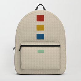 four elements || tweed & primary colors Backpack