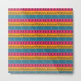 African Style Pattern Metal Print