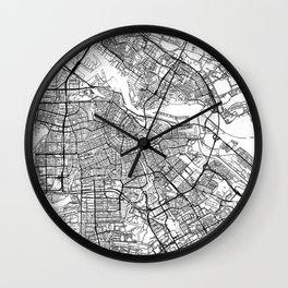 Amsterdam Map White Wall Clock