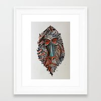 monkey Framed Art Prints featuring Monkey by Condutta