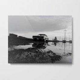 1968 Dodge Charger R/T - Industrial Reflection (Black, White, & Orange) Metal Print