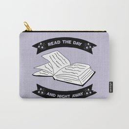 Read the Day and Night Away (Lavender) Carry-All Pouch