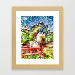 Horse statue at Bailiwick Animal Park Framed Art Print