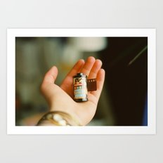 the analogue world in your hands Art Print
