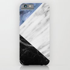 Marble Collage with Blue iPhone 6 Slim Case