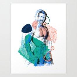 Dominic NewDDOOD Remix Art Print