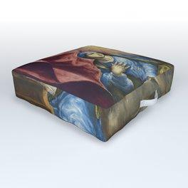 """El Greco (Domenikos Theotokopoulos) """"The Annunciation (1576)"""" Outdoor Floor Cushion"""