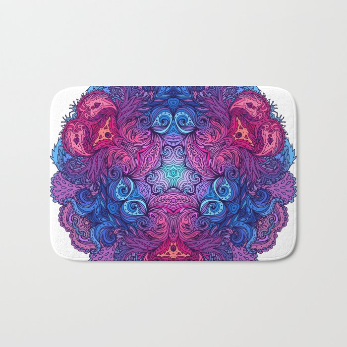 Purple & Blue Indian Mandala Bath Mat
