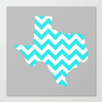 texas Canvas Prints featuring TEXAS by natalie sales