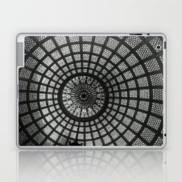 Tiffany Glass Dome Black/White Photography Laptop & iPad Skin