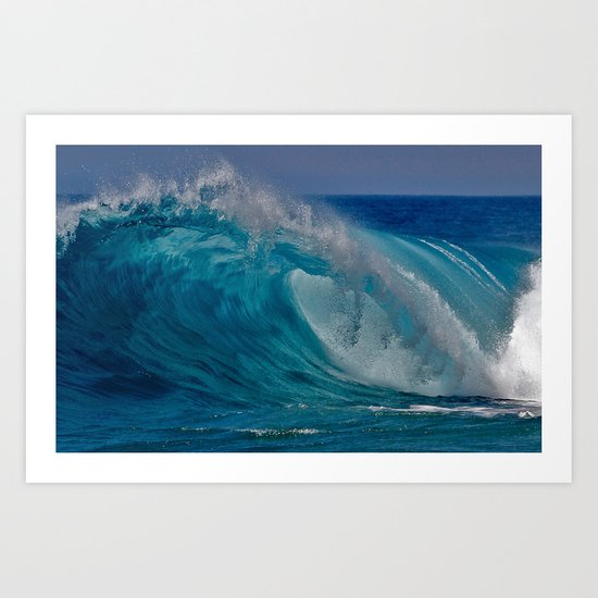 Waves - Newport Beach CA   Art Print